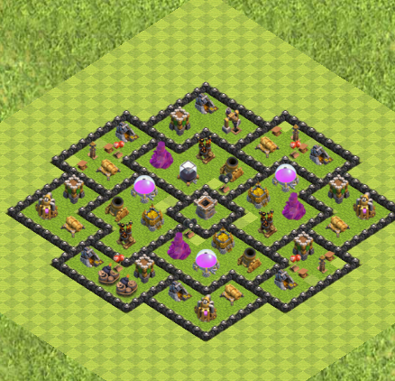 Clash Of Clans Layouts For Level Nine