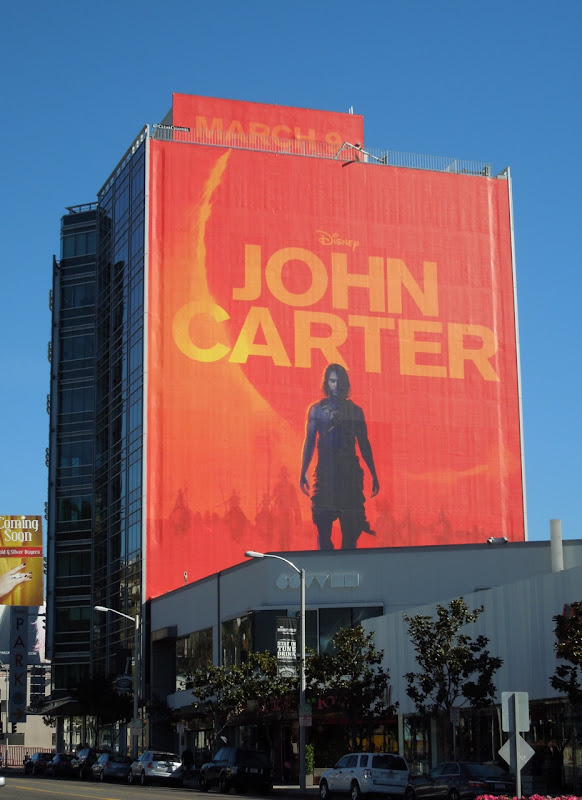 Disney John Carter movie billboard