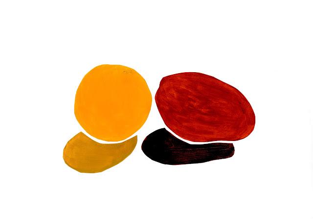 manu lafay nature morte orange mangue acrylique collage