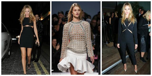 Rosie Huntington-Whiteley & Ellie Goulding London Fashion Week