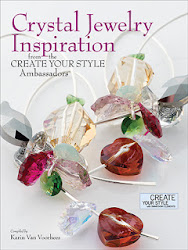 New Book!  Crystal Jewelry Inspiration features my felted cuff bracelet.