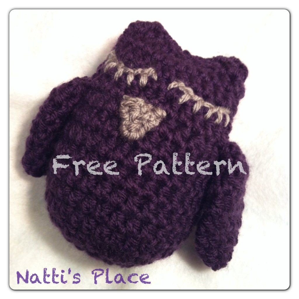 Free Crochet Pattern Small Owl : Nattis Place: Small Owl: Free Crochet Pattern