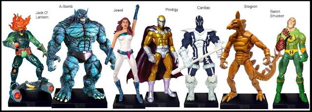 <b>Wave 20</b>: Jack O' Lantern, A-Bomb, Jewel, Prodigy, Cardiac, Stegron and Baron Strucker