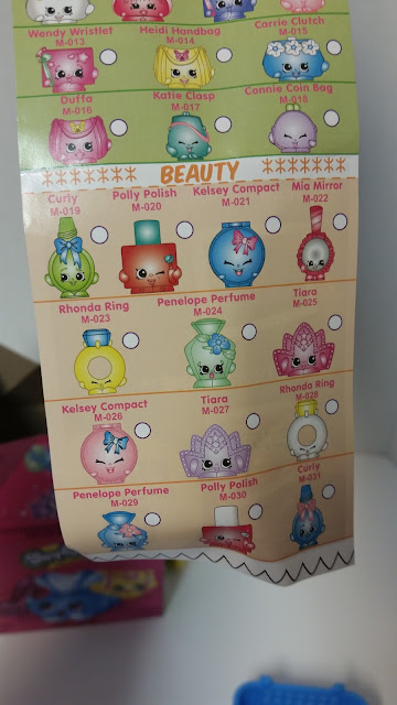 The McDonaldu0027s Shopkins List Looks Just Like The Regular Ones, Although  There Are Fewer Shopkins On It: