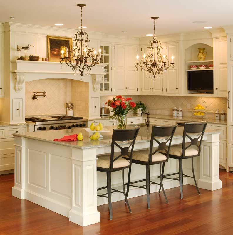 South Florida Custom Home Builder: Custom Built Kitchen Islands