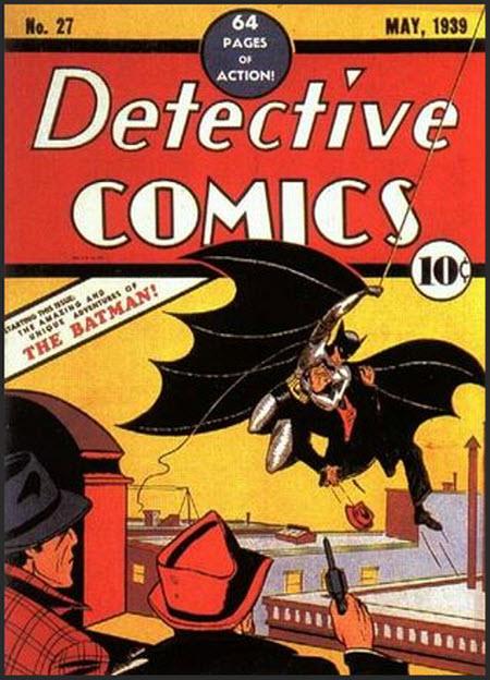Tapa del primer comic de Batman