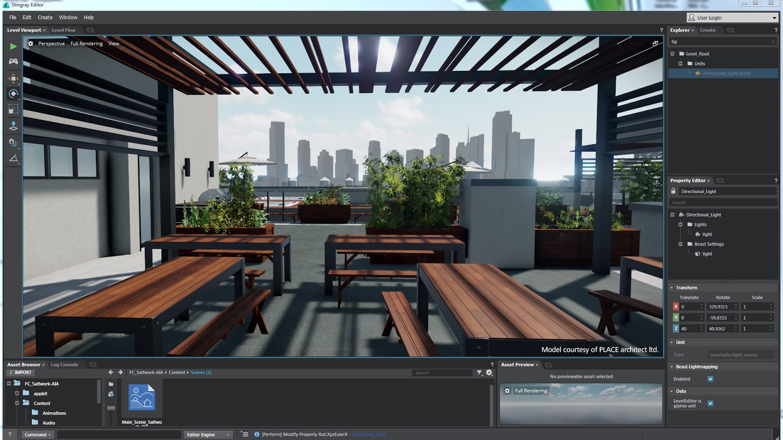 Budweiser Blog Autodesk Stingray Architectural Visualizations In Real Time