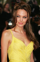 angelina jolie in yellow dress