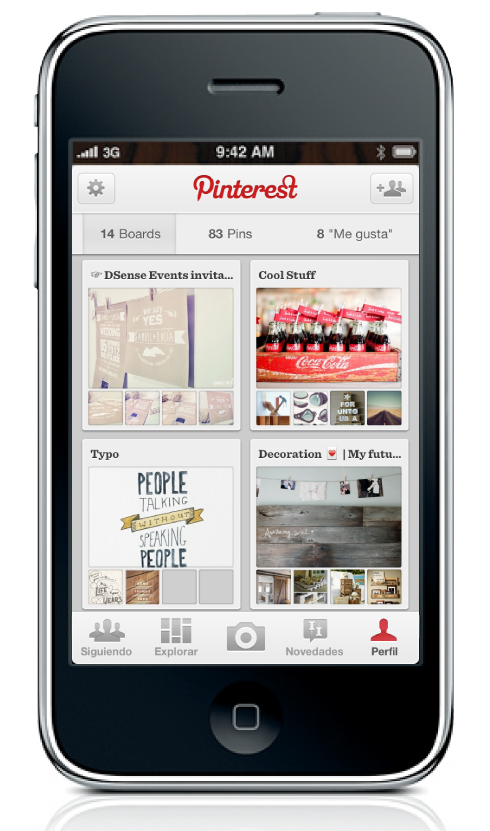 Pinterest app dsense events