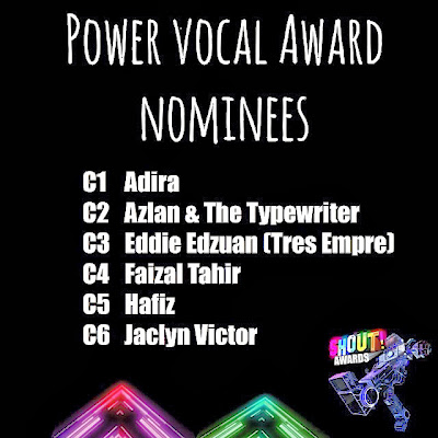 The Shout! Awards 2013 - Power Vocal Award Nominees