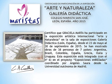 """""""Certificado de Participación Arte y Naturaleza"""""""