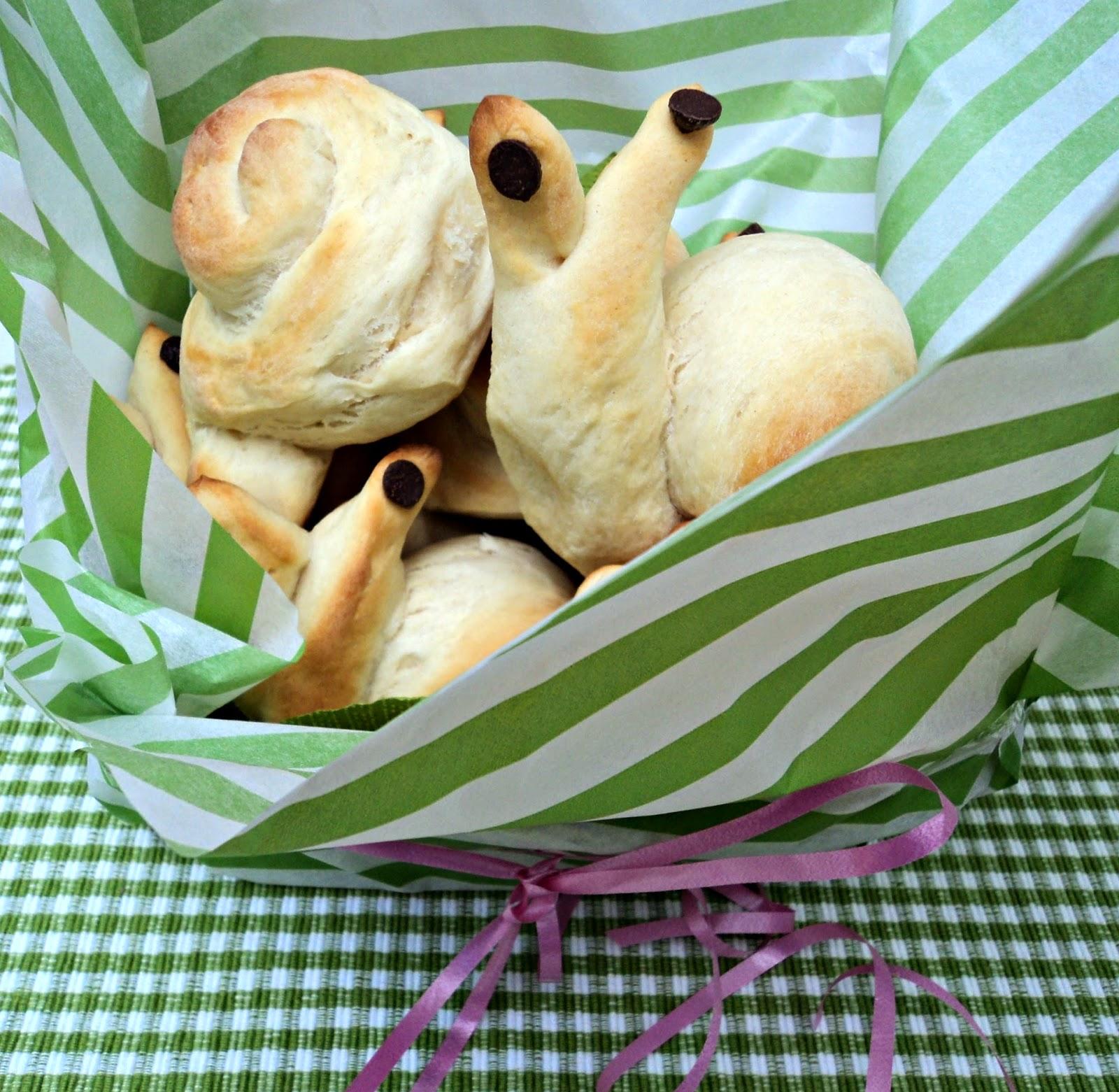 Receta de bollitos de pan en forma de caracoles