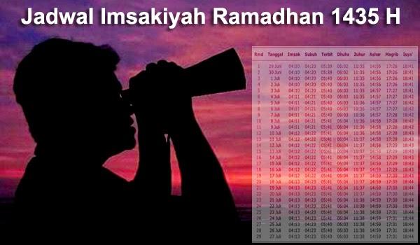 Jadwal Imsakiyah Ramadhan 1435 H Untuk Seluruh Indonesia
