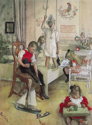 Carl-Larsson-Children-Painting