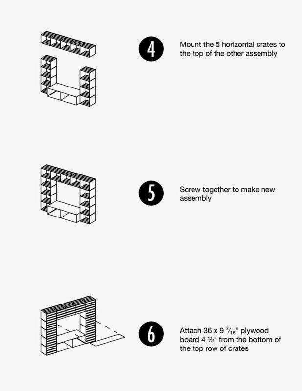 Mueblesdepalets.net: Mueble para la TV hecho con cajas de fruta