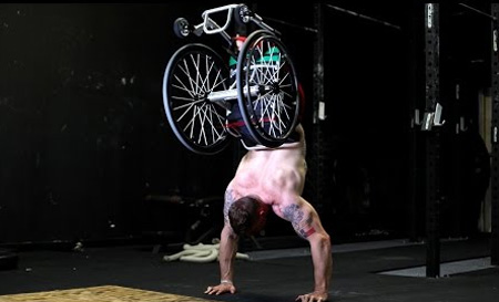 Wheelchair Pushups: Meet the Inspirational Amputee Crossfit Trainer