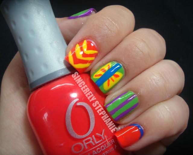 neon-skittles-nail-art
