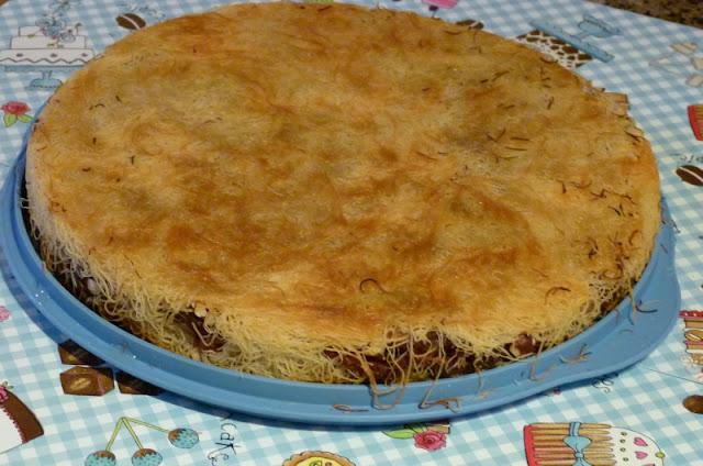 Ägyptisches Rezept für Gunafa Kunafa mit Datteln Ramadan