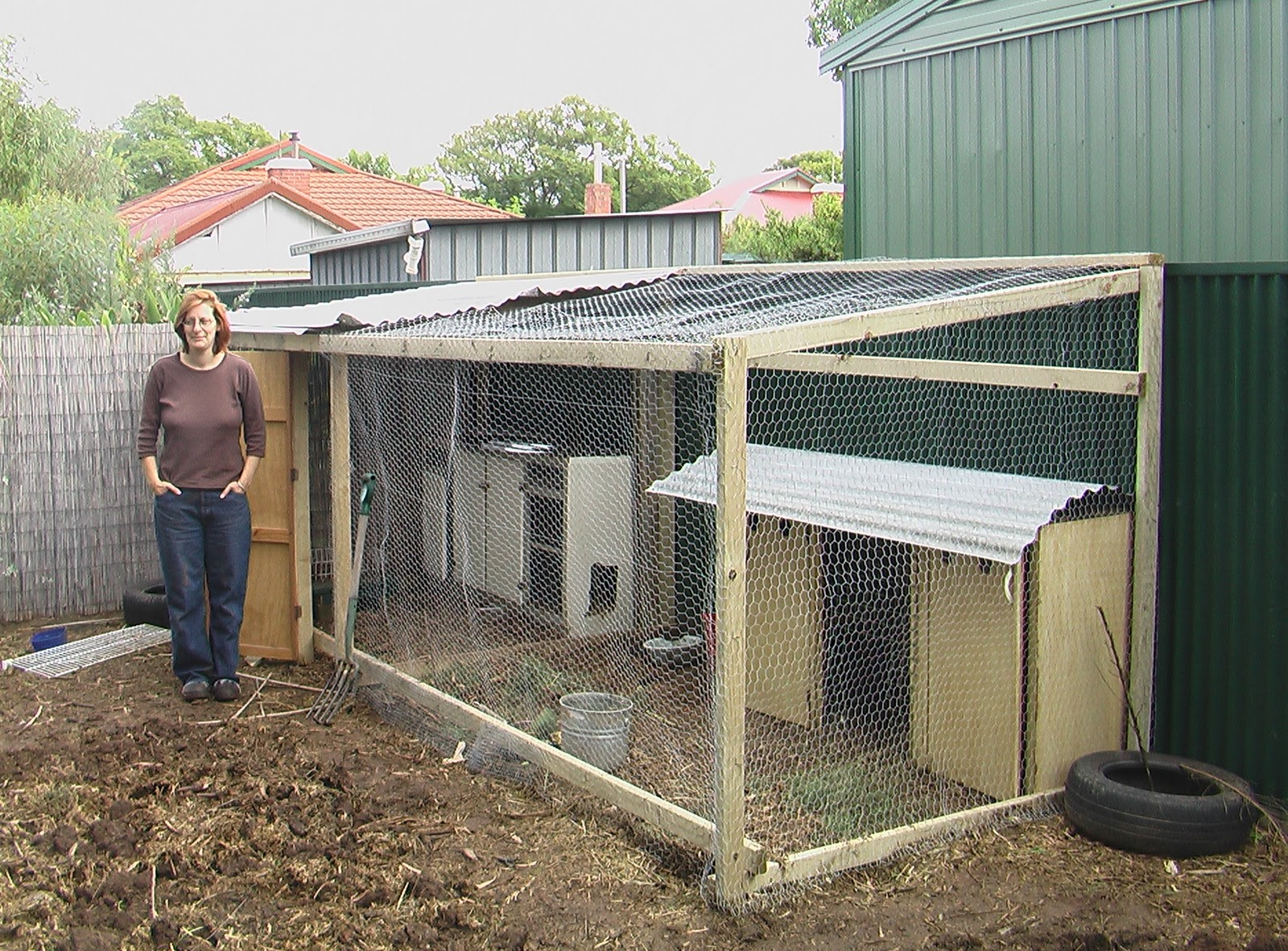would you like chickens with that building a chook pen