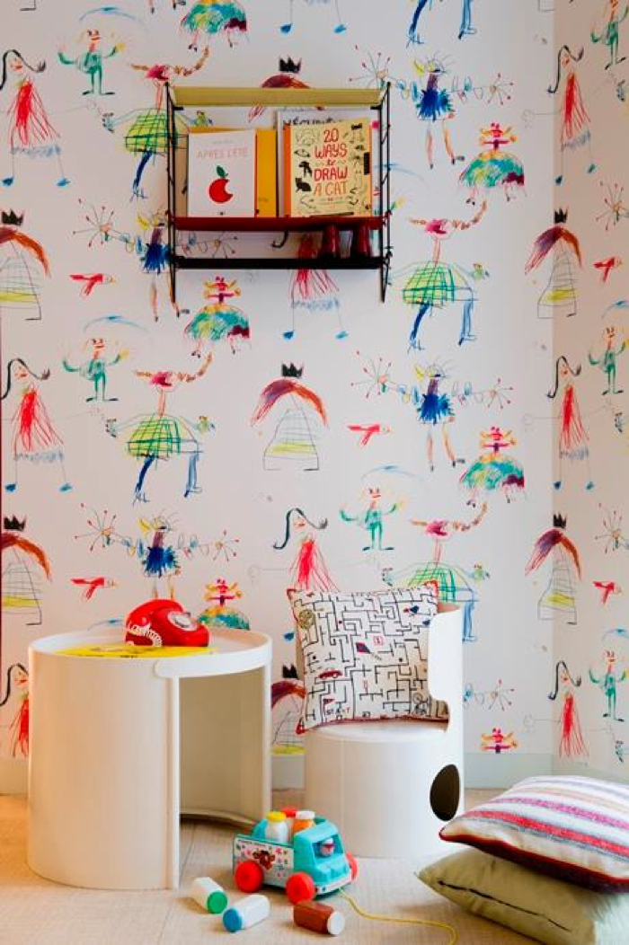 Rafa kids pierre frey confettis collection for kids for Kids room wall paper
