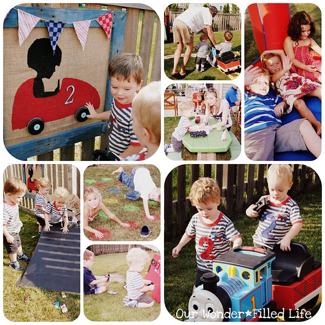 boys train transportation tricycle bike themed birthday party