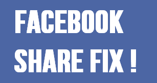 facebook share not showing fix