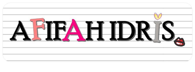 AFIFAH'S BLOG  . .