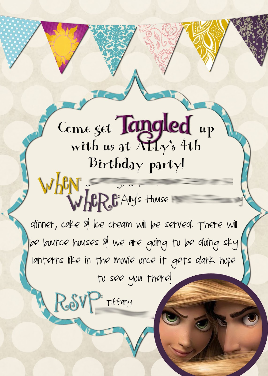 Mrs. This and That: Tangled Birthday party