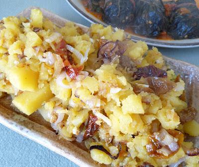 Rutabaga with Dried Tomatos Shallots and Garlic
