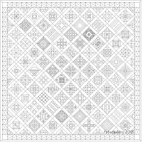 Nearly Insane Quilt in Electric Quilt Software Fabadashery