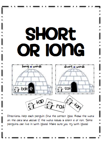 Worksheets Words With Long Oo Sound sarahs first grade snippets january center menu and a freebie how many os students look at picture cards decide if the word makes oo sound or short o sound
