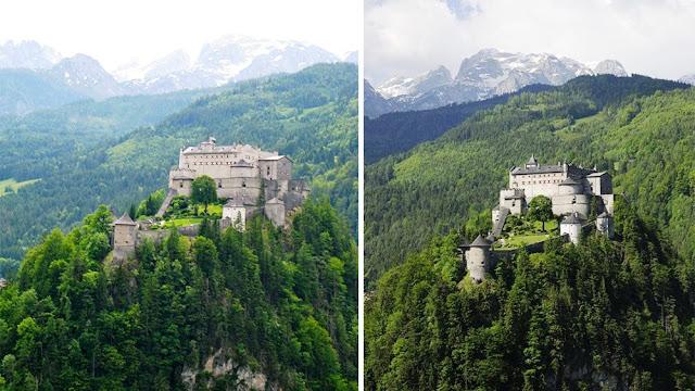 Hohenwerfen Castle,Werfen Salzach Valley in Austria
