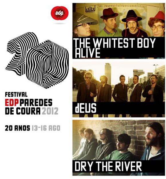 dEUS, Dry The River y  The Whitest Boy Alive se unen al Paredes de Coura