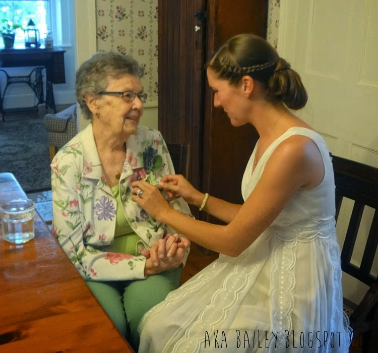 Bride with her grandmother!
