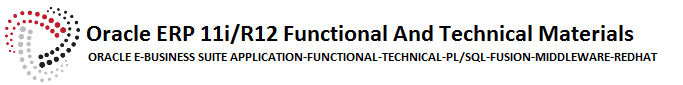 Oracle ERP Functional