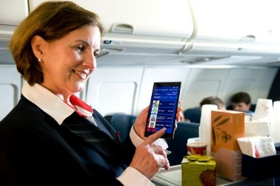 Delta provided its flight attendants with the sleek Lumia 1520 phablet