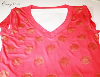 Gold Polka Dot Shirt