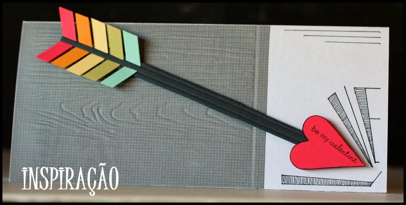 cartão flecha cupido