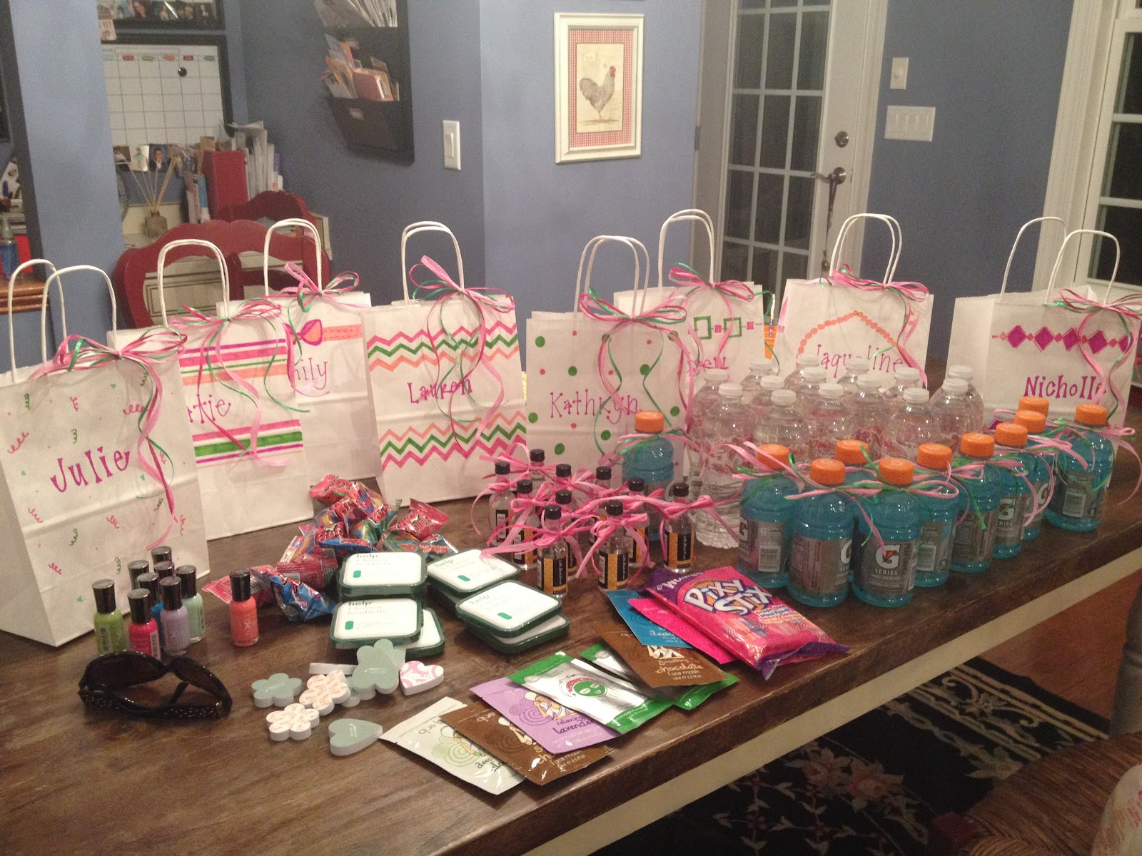 Preppy kates bachelorette party goodie bags for Gifts for home decor