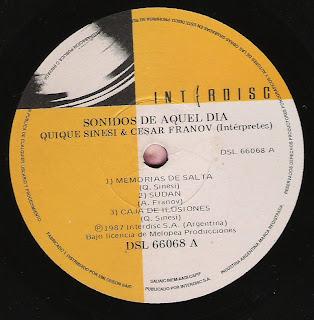 Quique Sinesi - Cesar Franov: Sonidos de aquel día (1987)