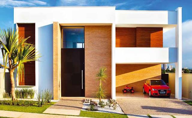 24 fachadas de casas modernas tipos de revestimentos for Fachadas de casas modernas