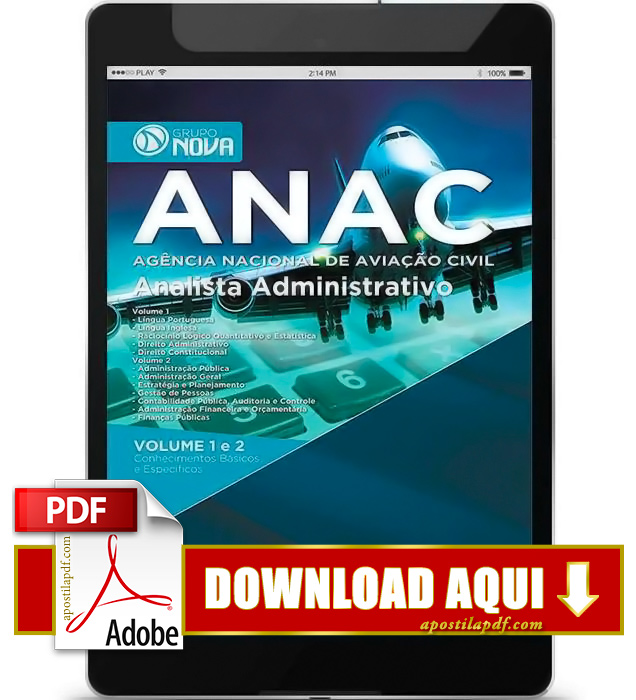 Apostila ANAC 2015 PDF Download Analista Administrativo