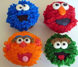 Funny Sesame Street Cupcakes