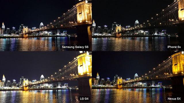 Galaxy S6 Camera, LG G4 Camera, iPhone 6S Camera Night
