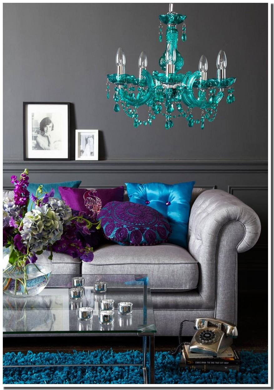 Salon bleu gris: canapé d&#;angle dans le salon pour plus de ...