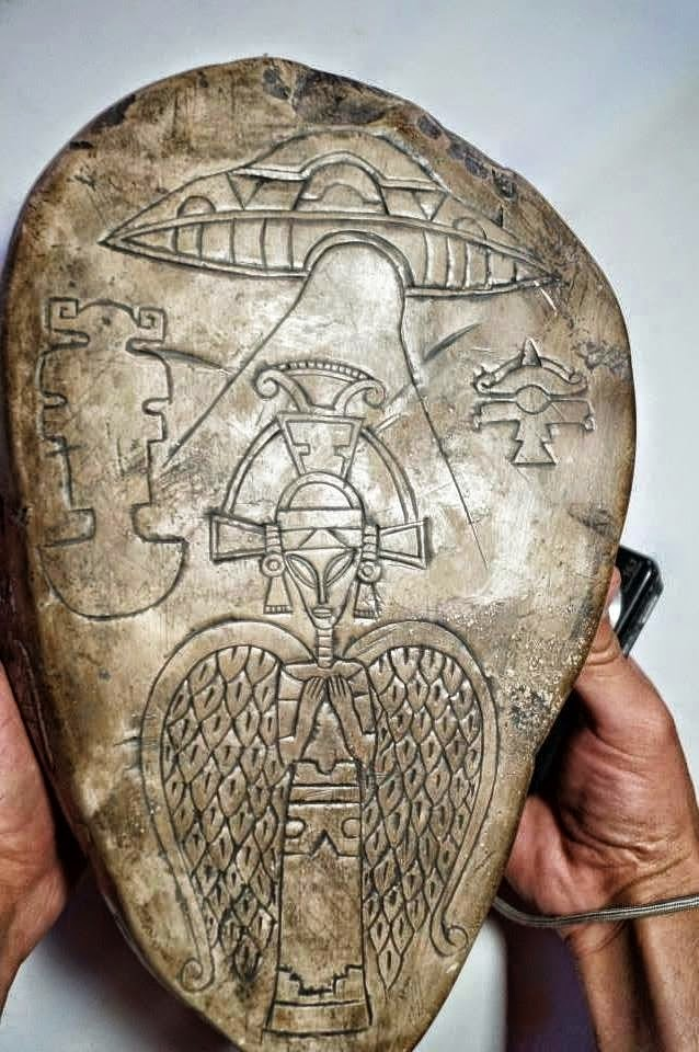 Secret files and ancient aztec objects presented in