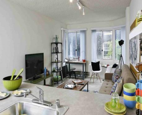Desain ruang keluarga kecil minimalis elegan