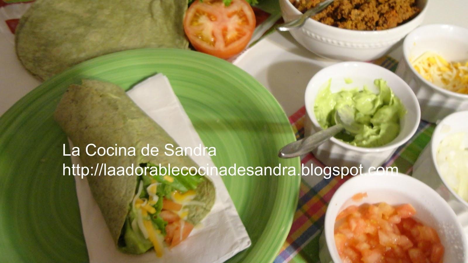 La Cocina de Sandra: Wraps de Espinaca