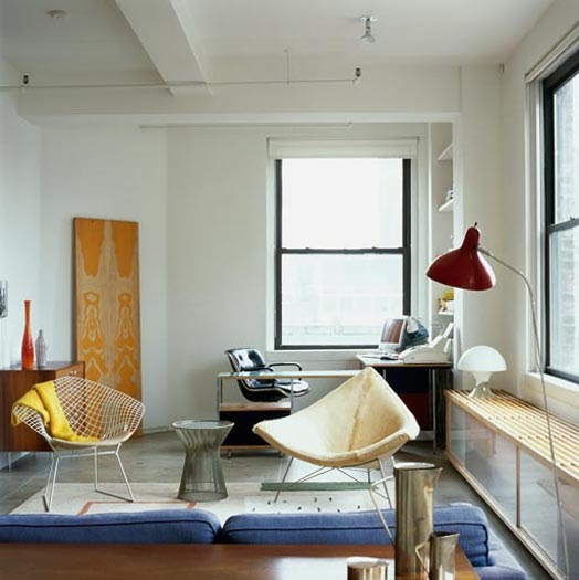 Designs of my mod artsy apartment home office for small for Small apartment office
