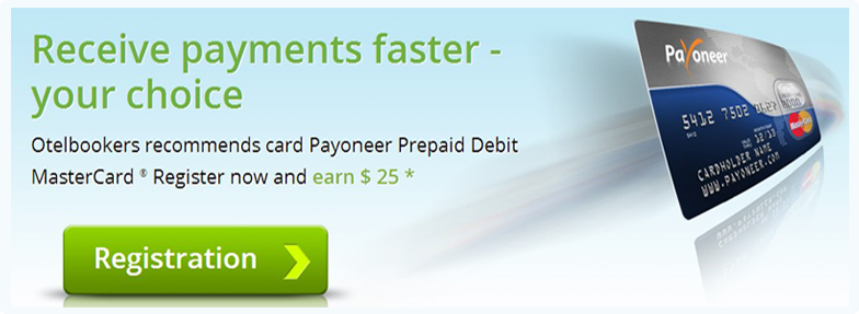 Otelbookers Recommends The Payoneer Debit Master Card For Shopping Online!